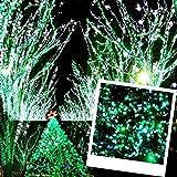 高品質 防雨使用 / 連結可能 / 高輝度・省エネ LED 200球 イルミネーション 全8パターン 点灯記憶装置 メモリー機能約20m PSE (グリーン&ホワイト)