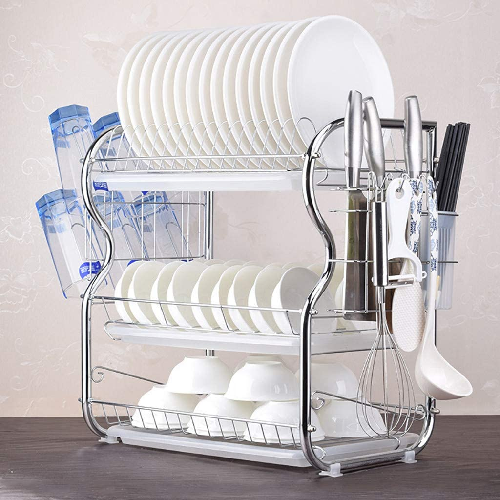 Dish Drying All items in the store Rack Super Special SALE held with Drainboard 3 Tier Stainless Steel Rac
