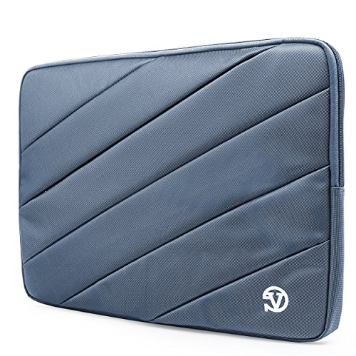Vangoddy Jam Nylon Carrying Quilted Sleeve Blue Travel Case for 14 inch to 15.6 inch Laptops Ultrabooks Notebook Computers
