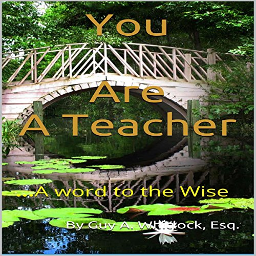 You Are a Teacher audiobook cover art