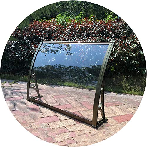 LIANGLIANG Awning Rain Door Canopy, Aluminum Alloy Bracket Strong Bearing Capacity, Polycarbonate Guard Against Rain and Snow Hail, Home Outdoor Simple Installation