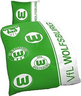 VfL Wolfsburg Bettwäsche Logohistorie Maße: 80 x 80cm 135 x 200 cm