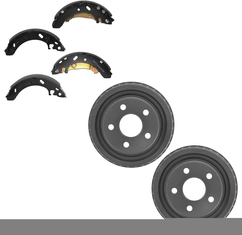 Brake Drum Shoe Rear LH Left RH Set Kit Genuine Free Shipping Strat Right Bombing new work Cirrus for