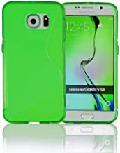 Galaxy S6 Case, Galaxy s6 Cases | Compatible- Samsung Galaxy s6 SIV S IV i9600 - Custom Pretty Wallet Thin Soft Gel Shell Cover Skin Phone Case by Cable and Case | Not Edge Compatible - Clear Green