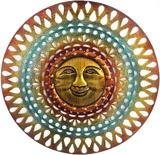 Metal Sun Sculpture Sun face Wall Art Hanging 2019 New Unique DIY for Indoor Outdoor Home Decoration