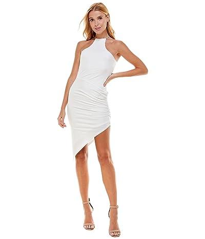 Bebe Asymmetrical Hem Gathered Dress
