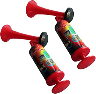 Air Horn Hand Held Pump Action 2 Pack for Kids Birthday Party Loud Air Horn in A Can No Gas Required Party Supplies for He...