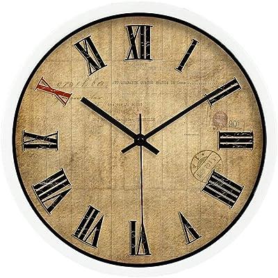 MANLADA Reloj de Pared del salón de Clases, Sala de Billar Tienda ...