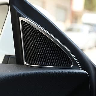 ABS Chrome Car Door Speaker Frame Cover Trim 2pcs For Mercedes Benz CLA 200 220 260 W117 C117 2015-2017