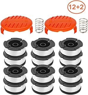 RONGJU 14 Pack Weed Eater Replacement Parts for Black&Decker AF-100, 12 Pack 30ft 0.065