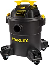 Stanley 6 Gallon Wet Dry Vacuum , 4 Peak HP Poly 3 in 1 Shop Vac Blower with Powerful..