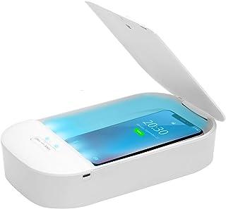 UV Phone Sanitizer Box UV Disinfection Box for Smartphone Nail Art Make Up Tools Portable Sterilizer 10W Max Fast Wireless...