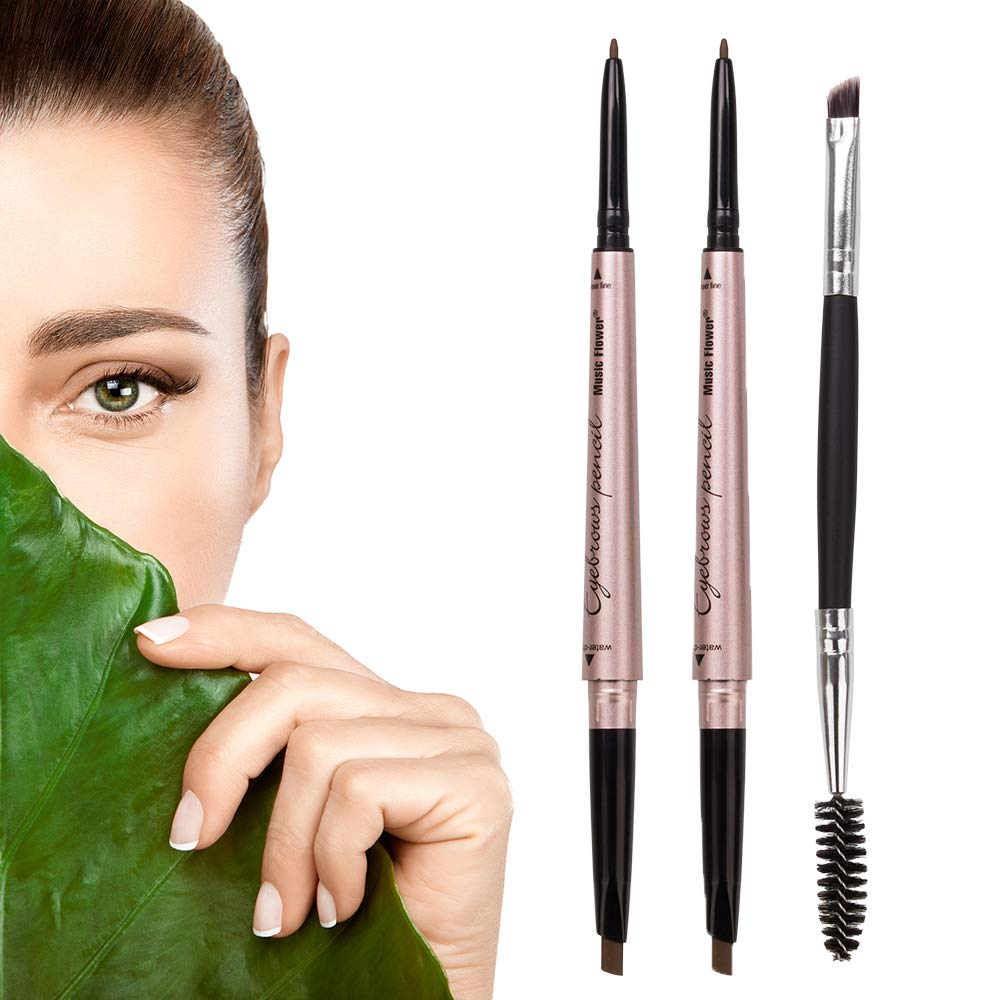 2 Pack New product!! Eyebrow Pencil Waterproof Makeup End Dual Rare with