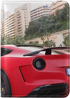 Ferrari F12 Berlinetta Supercar Novitec Rosso N Largo Leather Passport Holder Cover Case Travel One Pocket
