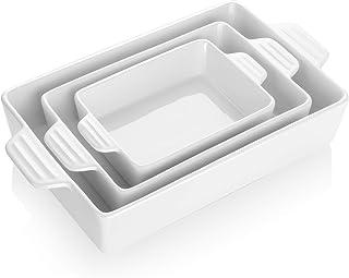 Teocera Porcelain Baking Dish, Casserole Dish, Rectangular Bakeware Set, Lasagna Pans for Cooking, Kitchen, Dinner Parties...