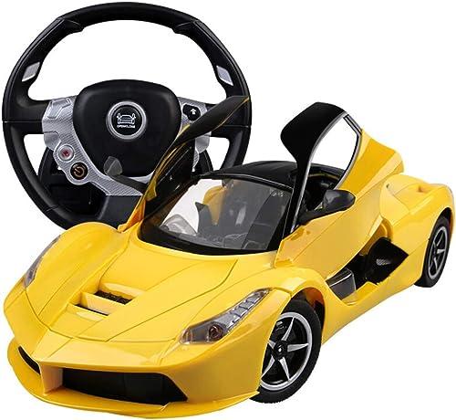 gran descuento Kikioo Tamaño grande 1 18 Modelo 4WD 4WD 4WD Alta velocidad Recargable, inalámbrico, remoto, carreras, deriva Coche deportivo para Niños con luces de trabajo Controlado por radio en la carretera RC 2.4 GHz Gr  100% precio garantizado
