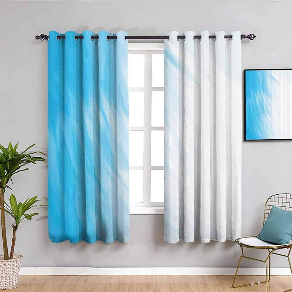 Abstract Home Decor Kids Curtain Watercolor Artwork in 爆買いセール 保証
