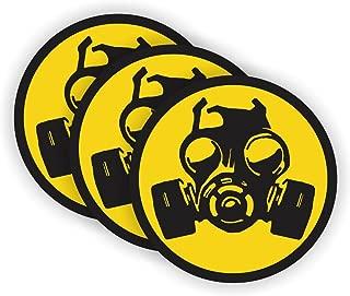 Gas Mask Symbol Hard Hat Sticker / Helmet Decal Label Lunch Tool Box