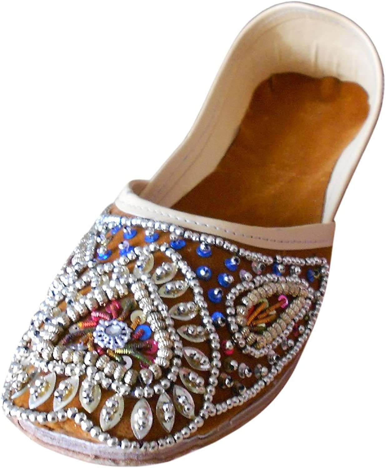Kalra Creations Mojari Women's Traditional Indian Velvet with Sequence Work Groom shoes