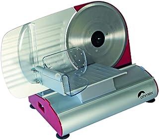 Ohmex OHM-Mary-Trancheuse Électrique-200 Watts-Puissance 230V ~ 50 Hz-Lame 220 mm-Capacité de Coupe 120 x 150 mm