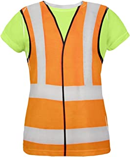 Old Glory Halloween Road Worker Construction Vest Costume All Over Womens T Shirt