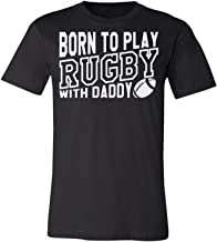 Born to Play Rugby with Daddy-Kid Baby USA Gifts Youth Training Funny T T-Shirt