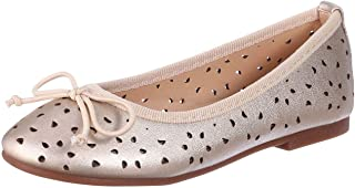 Karisma J.B Collection Faux Leather Bow-Detail Laser-Cut Ballerina Shoes for Girls