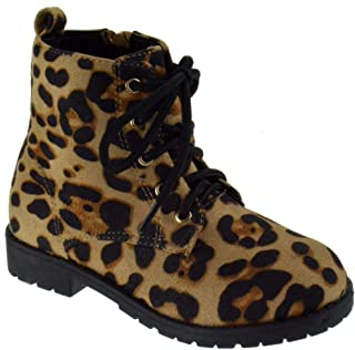 Lucky Top Martini Girls Side Zipper Platform Combat Boots Boots