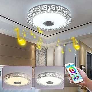 Smart phone 36 W Control Bluetooth LED colorido plafón LED nido de pájaros luz audio redonda