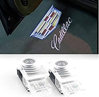 AMINEY 2 Pcs Door Welcome Lights Ghost Shadow Logo Light Led Door Projectors For Cadillac, New Logo, Easy Installation