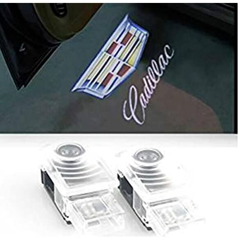 Bailongju Easy Installation Car Door LED Logo Projector Ghost Shadow Lights compatible with cadillac 2-pc Set