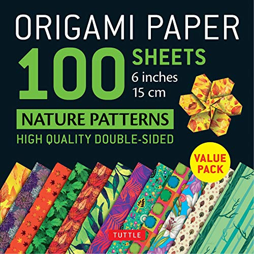 Origami Paper 100 sheets Nature Patterns 6 inch (15 cm): High-Quality Origami Sheets Printed with 8 Different Designs (Instructions for 8 Projects Included) (Origami Paper Pack)
