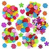 Coopay 250 Pieces Felt Flowers Fabric Flower...