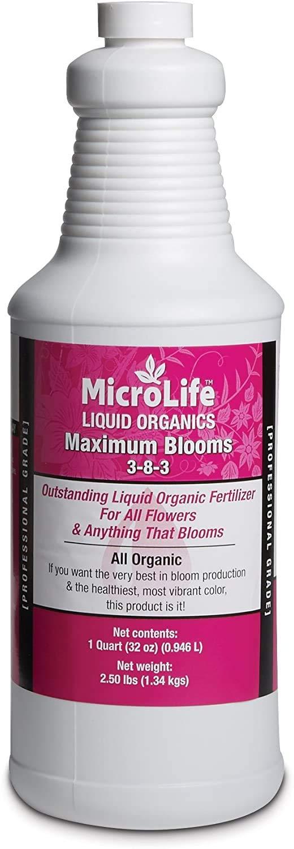 New Free Super special price Shipping MicroLife Maximum Blooms 3-8-3 Organic Professional Liqu Grade