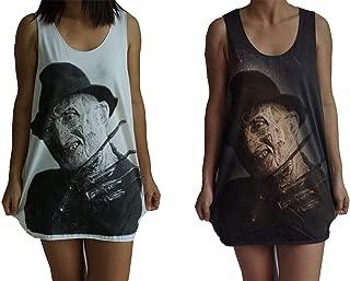 HOPE & FAITH Unisex Freddy Krueger Nightmare On Elm Street Tank Top Vest Singlet Sleeveless T-Shirt Mens Womens Ladies