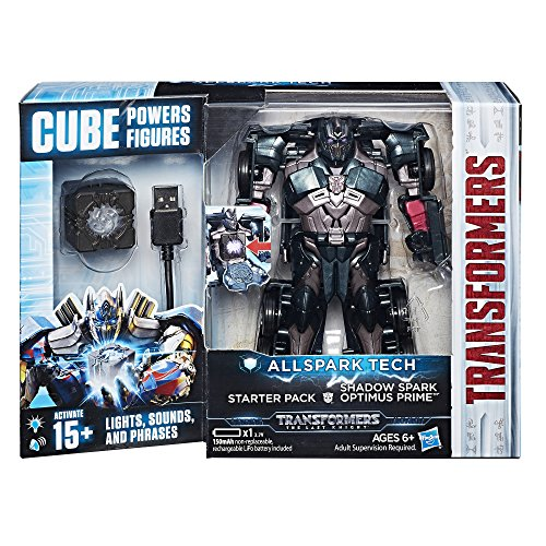 Hasbro Transformers C3480ES0 - Movie 5 All Spark Tech Starter Set Shadow Spark Optimus Prime, Actionfigur