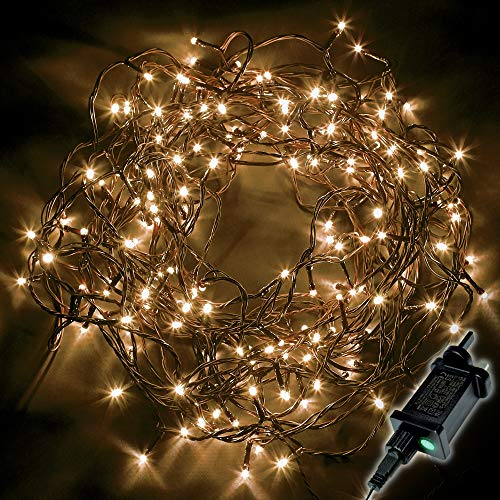 Christmas Tree Lights 1500 LED 37.5m Warm White - Fairy String Lights Plug in with Timer and Memory Functions - Suitable for Outdoor/Indoor Use