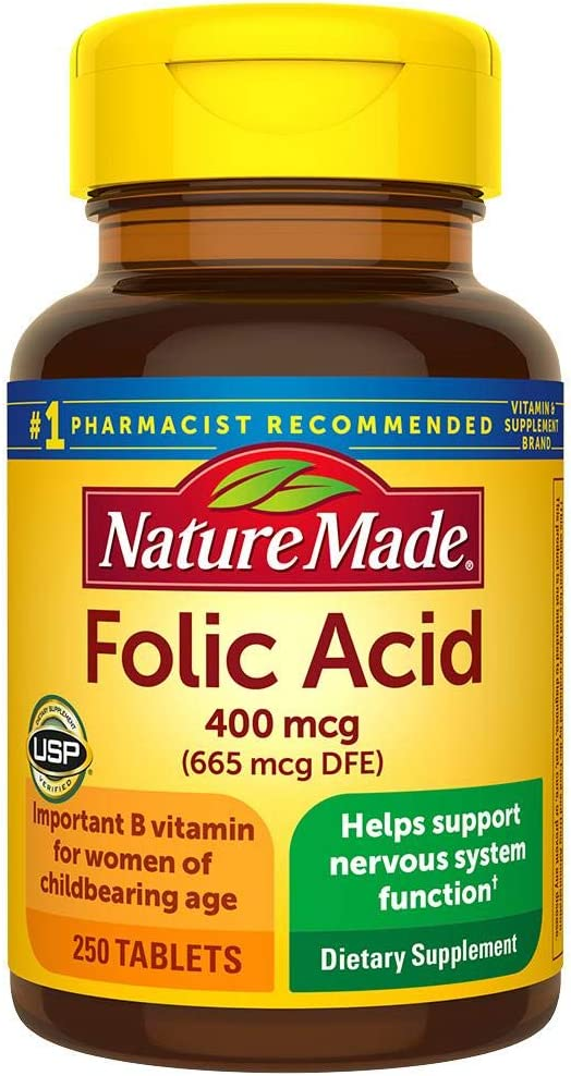 Nature Made Folic In stock Max 70% OFF Acid 400 mcg Pack 250 4 Count