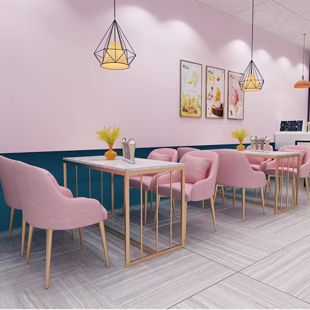 LF Chaise de Salle, Chaise de Bureau Simple, créative Dossier, Chaise Loisirs, Maison Adulte Chaise de Salle Simple (Color : Light Green) Pink