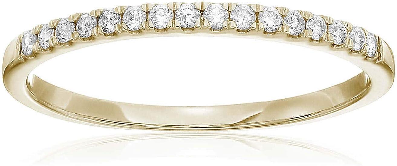 Vir Jewels 1/5 cttw Certified Diamond Wedding Band 14K Yellow Gold Prong Set Round