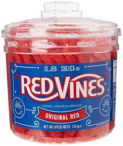 Redvines Candy 240 Fruit Flavour Vines 1.8kg Tub