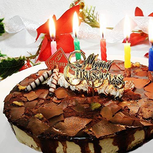 クリスマスケーキ フロマージュ・ショコラ・リッチェ(お届け日12月24日)【ローソク・Xmasプレート・手紙・無料】(チョコレートケーキ チーズケーキ)
