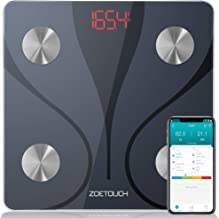 ZOETOUCH Digital Weight Scale, Smart Bluetooth Body Fat Scale Bathroom Body Composition Monitor Wireless BMI Scale with Smartphone APP, 396lbs