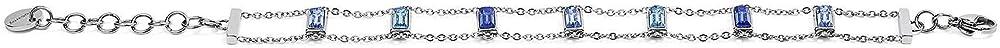 Brosway symphony bracciale donna in acciaio 316l e cristalli swarovski BYM16