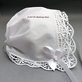 Trellis Lace Keepsake Handkerchief Bonnet