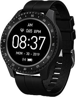 Rastreador de Ejercicios Pantalla de 1.54 Pulgadas, Impermeable IP68 Reloj Pulsómetro Presión sanguínea Monitor de Sueño Podómetro Recordatorio sedentario Reloj Inteligente Bluetooth