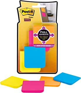 Post-it Super Sticky Full Adhesive Notes, 2x Sticking Power, 2 in x 2 in size, Rio de Janeiro Collection, 8 pads/pack (F220-8SSAU)