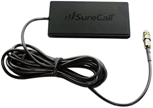SureCall Wide Band Directional Interior Patch Antenna for Vehicles with FME-Female Connector - Black