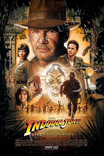 Posters USA Indiana Jones and the Kingdom of the Crystal Skull Movie Poster GLOSSY FINISH - MOV065 (24' x 36' (61cm x 91.5cm))