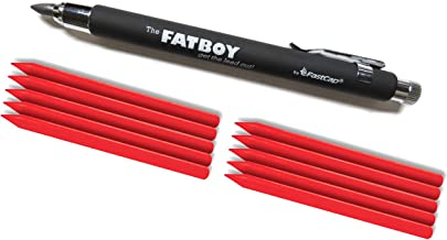 FastCap Fatboy Extreme (1) 5.5mm Mechanical Pencils with (10) Red Crayon Refills